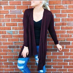 American Eagle Burgundy knit light cardigan
